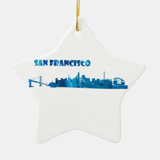 Ornamento De Cerâmica Silhueta da skyline de San Francisco