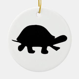 Ornamento De Cerâmica Silhueta da tartaruga
