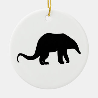 Ornamento De Cerâmica Silhueta do Anteater
