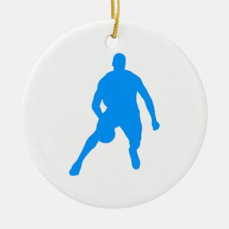 Ornamento De Cerâmica Silhueta do basquetebol