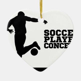 Ornamento De Cerâmica Silhueta do conceito do jogador de futebol do