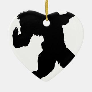 Ornamento De Cerâmica Silhueta do homem-lobo