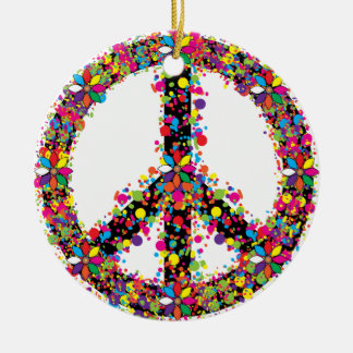 Ornamento De Cerâmica Símbolo de paz grande