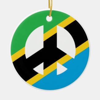 Ornamento De Cerâmica Símbolo de paz tanzaniano