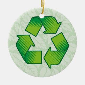 Ornamento De Cerâmica Símbolo do reciclagem