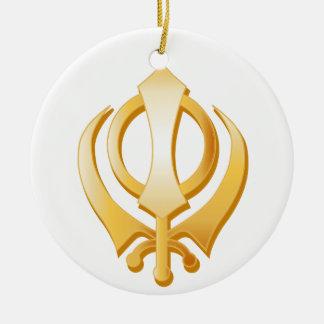 Ornamento De Cerâmica Símbolo do sikh