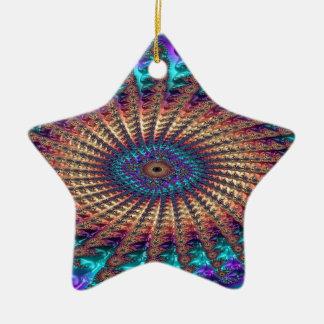 Ornamento De Cerâmica Simpatia do Fractal da fé
