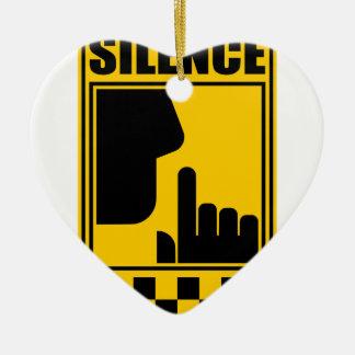 Ornamento De Cerâmica Sinal amarelo do silêncio