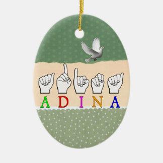 ORNAMENTO DE CERÂMICA SINAL CONHECIDO DE ADINA FINGERSPELLED ASL