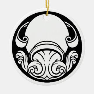 Ornamento De Cerâmica Sinal da astrologia do horóscopo do zodíaco do