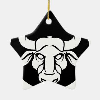Ornamento De Cerâmica Sinal da astrologia do zodíaco de Bull do Taurus