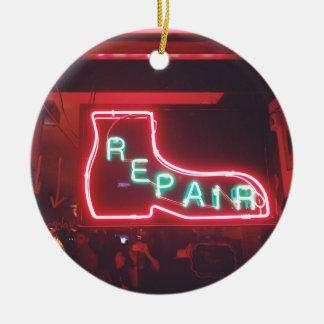 Ornamento De Cerâmica Sinal de néon NYC de Repare
