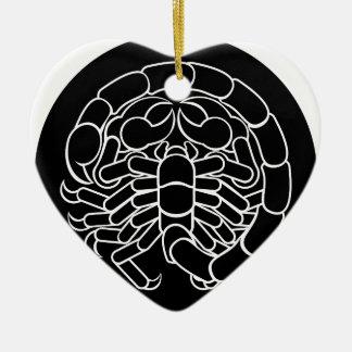 Ornamento De Cerâmica Sinal do zodíaco da Escorpião do escorpião
