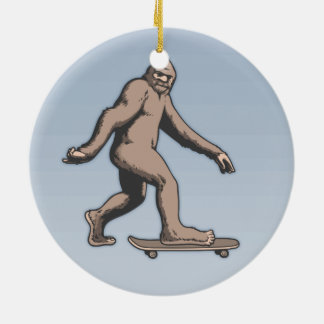 Ornamento De Cerâmica Skate de Bigfoot