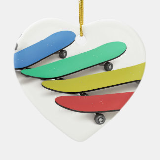 Ornamento De Cerâmica Skates