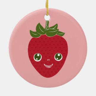 Ornamento De Cerâmica Skullberry, morango doce que tem o trapaceiro ido