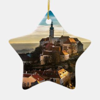Ornamento De Cerâmica Skyline da república checa