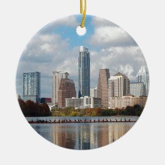 Ornamento De Cerâmica Skyline de Austin Texas