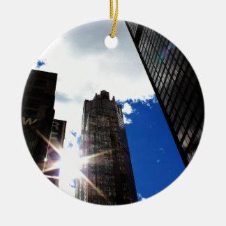 Ornamento De Cerâmica Skyline de Chicago