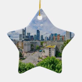 Ornamento De Cerâmica Skyline de Francoforte