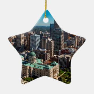 Ornamento De Cerâmica Skyline de Indianapolis
