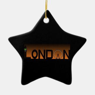 Ornamento De Cerâmica Skyline de Londres