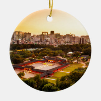 Ornamento De Cerâmica Skyline de Seoul Coreia do Sul
