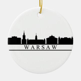 Ornamento De Cerâmica skyline de Varsóvia