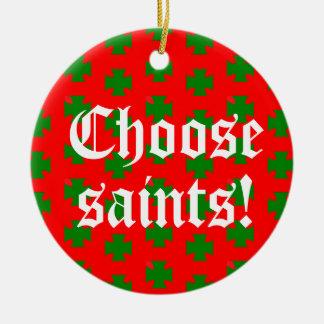 Ornamento De Cerâmica Slogan Circ de Saints_Aplenty (Natal Ed. #2)