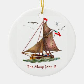 Ornamento De Cerâmica Sloop John B