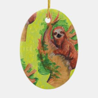 Ornamento De Cerâmica sloth in the tree
