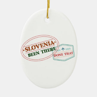 Ornamento De Cerâmica Slovenia feito lá isso