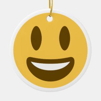 Ornamento De Cerâmica Smiley emoji