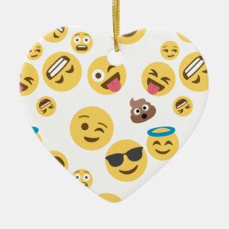 Ornamento De Cerâmica Smiley louco Emojis