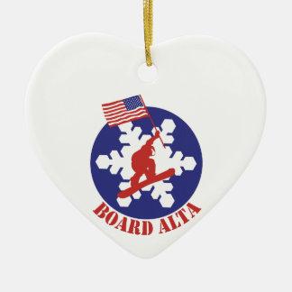 Ornamento De Cerâmica Snowboard Alta