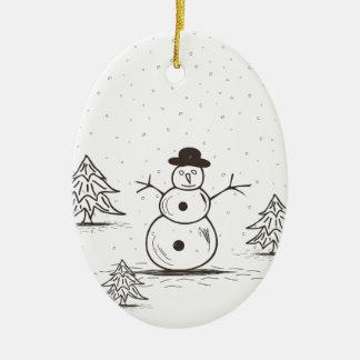 Ornamento De Cerâmica snowman2