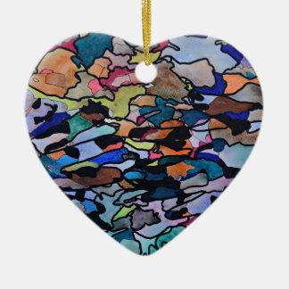 Ornamento De Cerâmica Sob a maca da folha