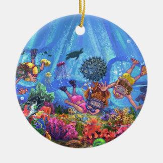 Ornamento De Cerâmica Sob o mar