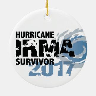Ornamento De Cerâmica Sobrevivente Florida 2017 de Irma do furacão