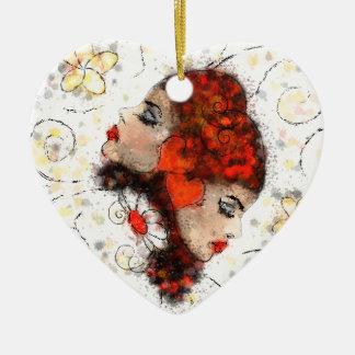 Ornamento De Cerâmica Solemissia - a flor real