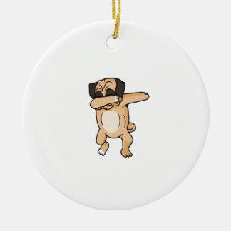 Ornamento De Cerâmica Solha do Pug