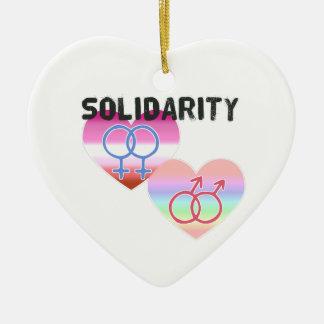 Ornamento De Cerâmica Solidariedade alegre lésbica