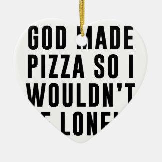 Ornamento De Cerâmica Solitário da pizza