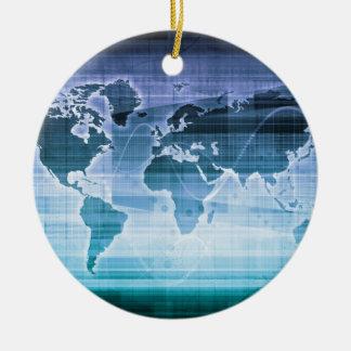 Ornamento De Cerâmica Soluções globais da tecnologia