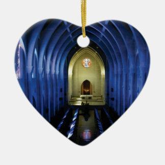 Ornamento De Cerâmica sombras da igreja azul escuro