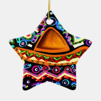 Ornamento De Cerâmica Sombrero mexicano