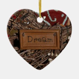 Ornamento De Cerâmica Sonho