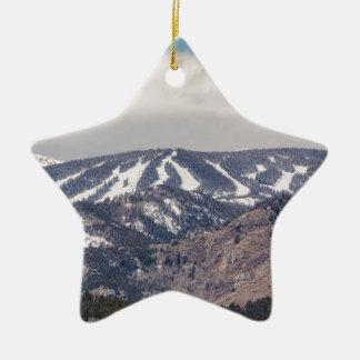 Ornamento De Cerâmica Sonho da inclinação do esqui
