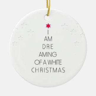 Ornamento De Cerâmica Sonho do White Christmas