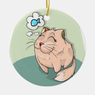 Ornamento De Cerâmica Sonho dos gatos